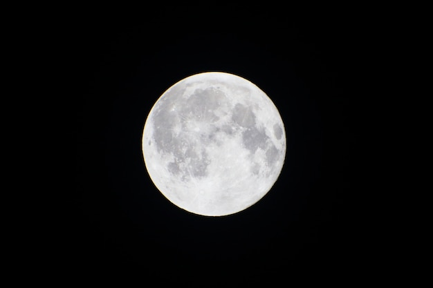 Fundo de lua cheia na noite escura