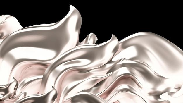 Fundo de luxo com tecido de cortinas de ouro. renderização em 3d.