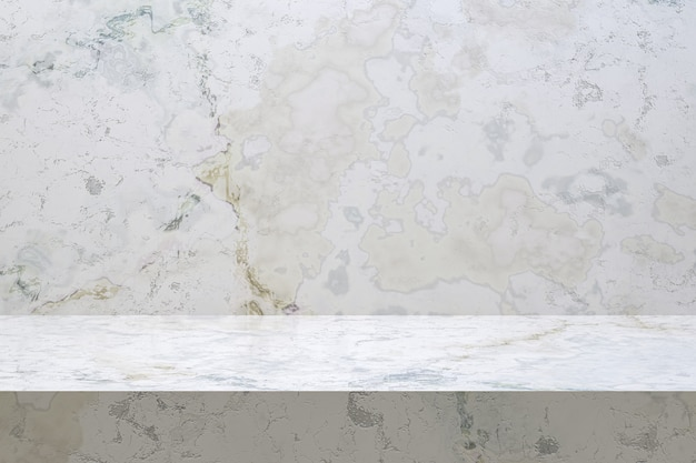 Fundo de luxo de mesa de mármore para carrinho de produto display com espaço vazio cópia para festa.