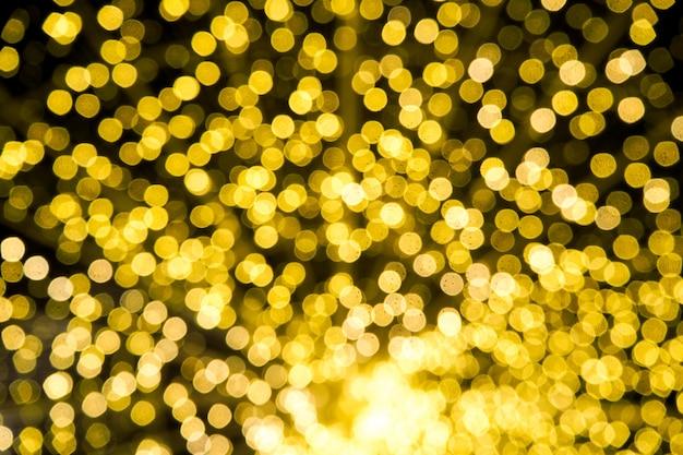 Fundo de luxo luz abstrata bokeh amarelo