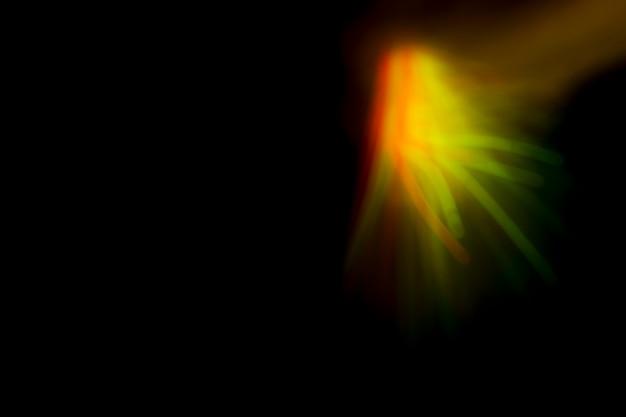 Fundo de luz abstrata fractal de renderização 3d