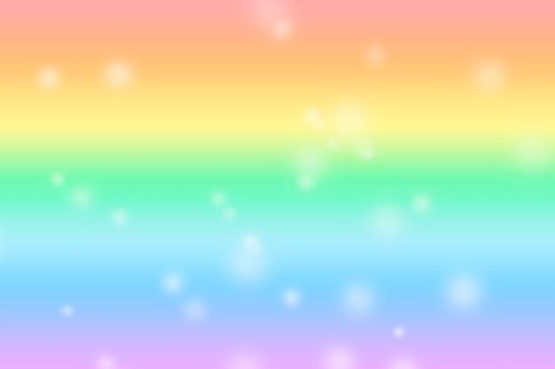 Fundo de luz iridescente suave e delicado com bokeh. símbolo lgbt e fundo gradiente do arco-íris.