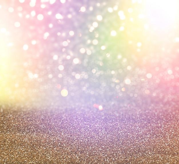 Fundo de luzes de glitter e bokeh de natal