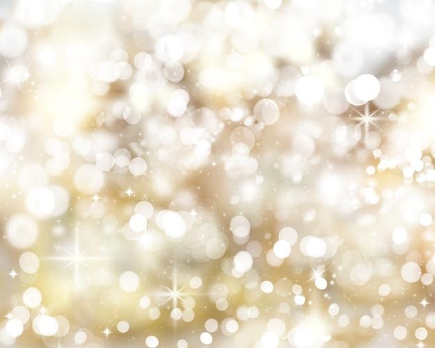 Fundo de luzes de natal dourado