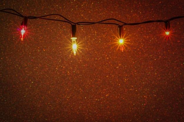 Fundo de luzes de natal