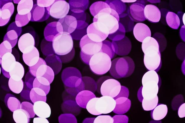 Fundo de luzes de néon circular roxo