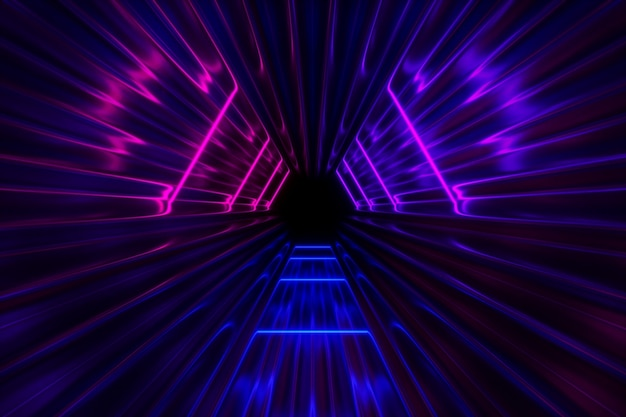 Fundo de luzes de néon fantástico