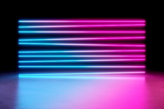 Fundo de luzes de néon.