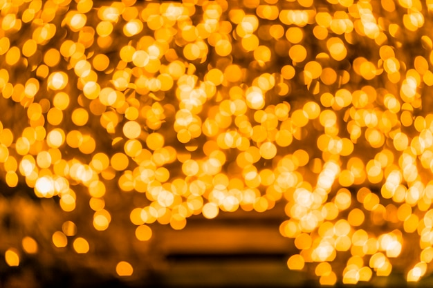 Fundo de luzes vintage de glitter dourado