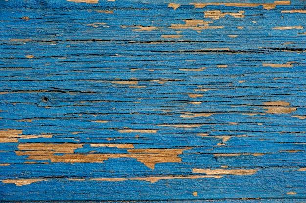 Fundo de madeira azul brilhante