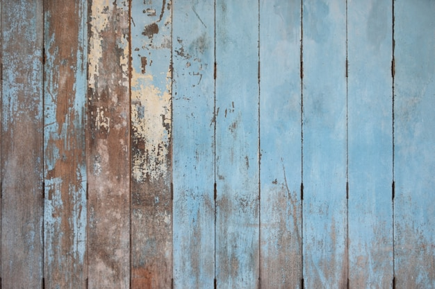 Fundo de madeira azul velho rústico. placas de madeira
