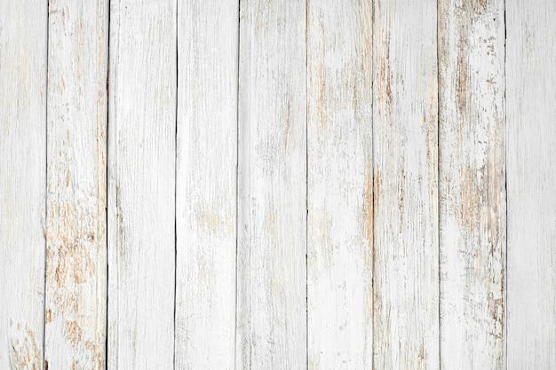 Fundo de madeira branco vintage