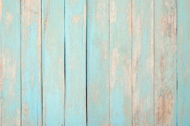 Fundo de madeira da praia do vintage - prancha de madeira resistida velha pintada na cor pastel de azul de turquesa.