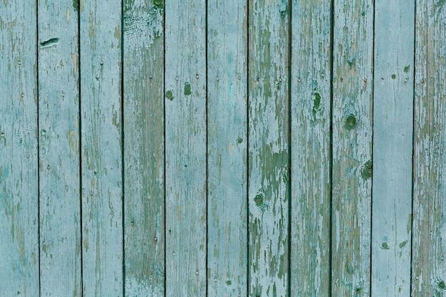 Fundo de madeira da textura de turquesa, placa de madeira de vista superior.