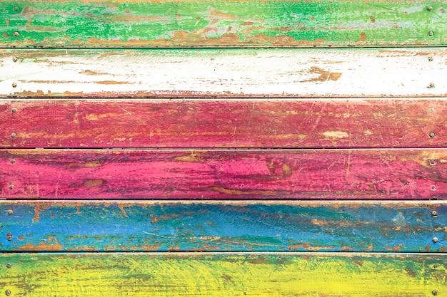 Fundo de madeira multicolorido e material de construção alternativo