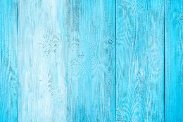 Fundo de madeira natural pintado em diferentes tons de cor azul claro. visualização horizontal.