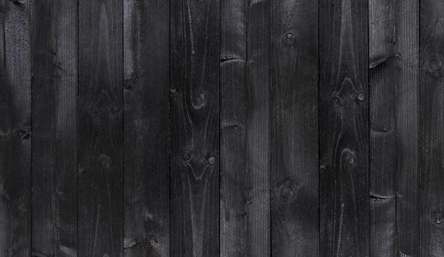 Fundo de madeira preto largo, textura de pranchas de madeira velha
