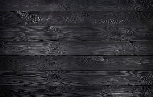 Fundo de madeira preto, textura de pranchas de madeira velha