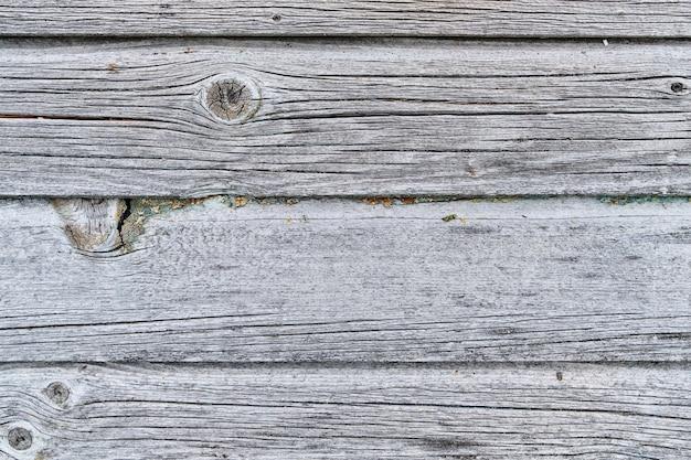 Fundo de madeira velho e áspero na cor cinza natural