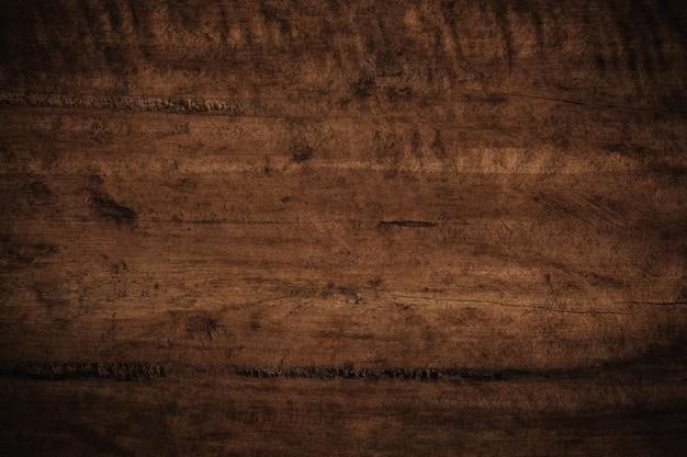 Fundo de madeira velho grunge texturizado escuro.
