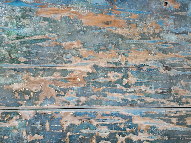 Fundo de madeira vintage com pintura descascada