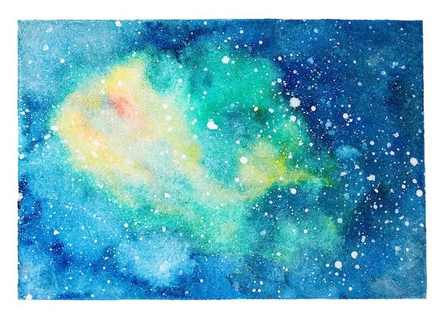 Fundo de manchas de aquarela abstrata. céu noturno da galáxia
