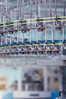 Fundo de manufatura têxtil tecido de malha circular