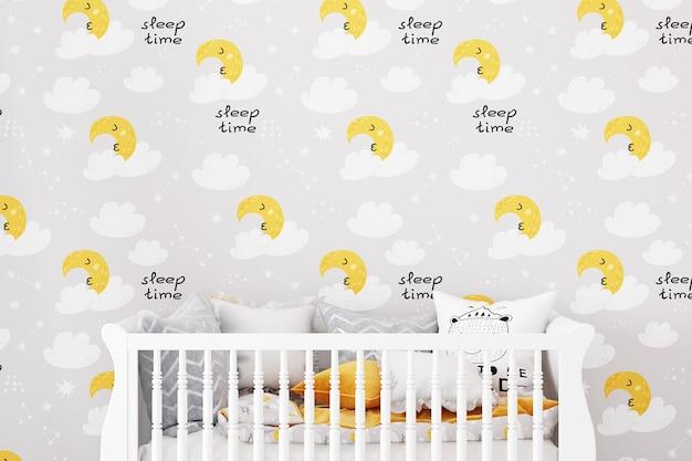 Fundo de maquete de quarto de bebê