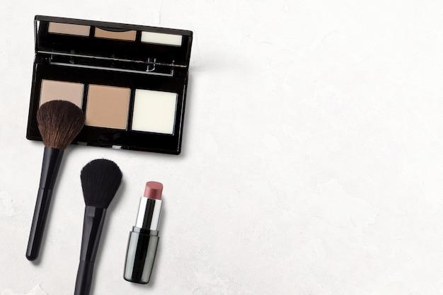 Fundo de maquiagem com espaço de cópia