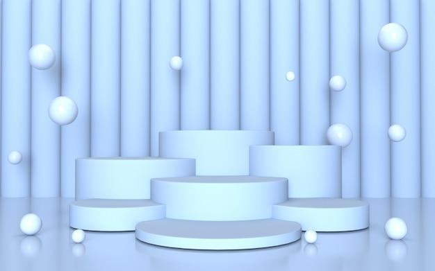 Fundo de mármore branco do display do produto podium
