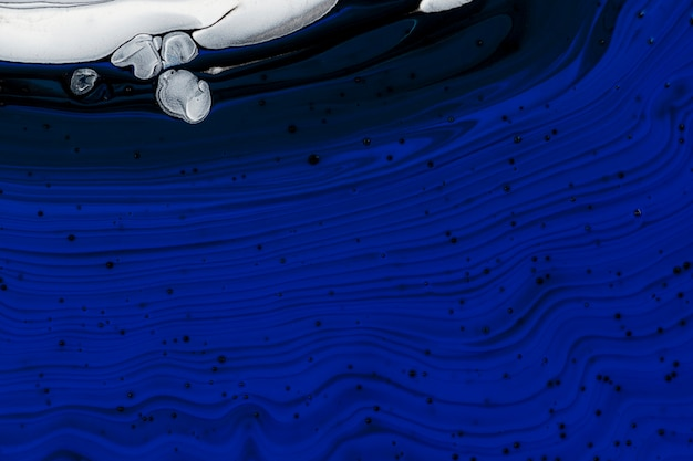 Fundo de mármore líquido azul abstrato textura fluida arte experimental