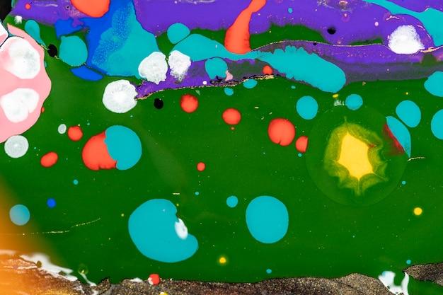 Fundo de mármore líquido colorido abstrato arte experimental de textura fluida