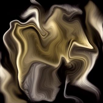 Fundo de mármore líquido dourado de luxo
