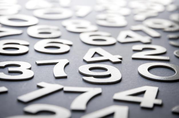 Fundo de matemática feito com números sólidos