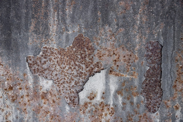 Fundo de material metálico marrom enferrujado