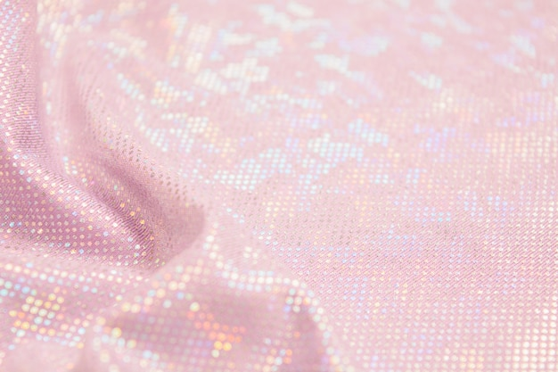 Fundo de material têxtil brilhante rosa férias com ondas e espaço de cópia