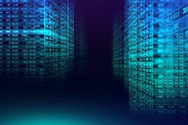 Fundo de matriz de código binário digital no conceito gráfico