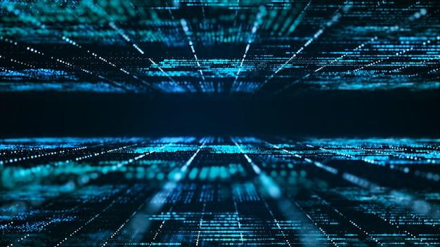 Fundo de matriz digital abstrata