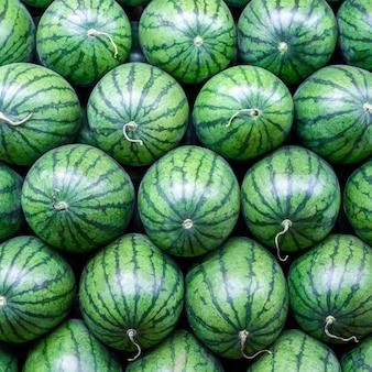 Fundo de melancias verde doce grande