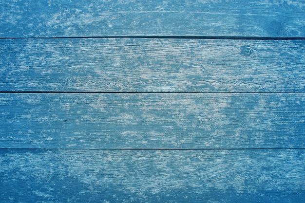 Fundo de mesa de textura de madeira vintage azul