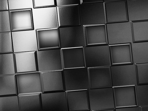 Fundo de metal abstrato com quadrados