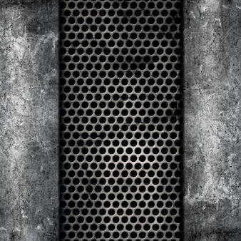 Fundo de metal e concreto