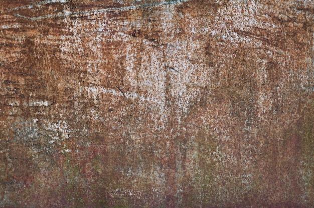 Fundo de metal marrom. tinta derramada. textura de metal