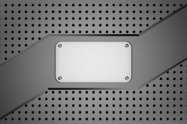 Fundo de metal. renderização em 3d.