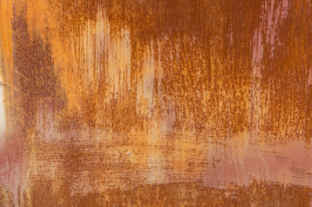 Fundo de metal riscado enferrujado, textura close-up