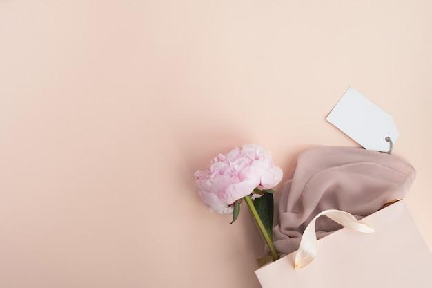 Fundo de moda e venda de compras