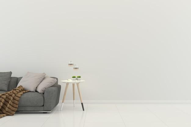 Fundo de modelo de casa interior de sala de estar