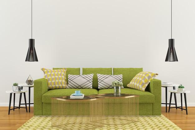 Fundo de modelo de piso de casa de parede interior de sala de estar