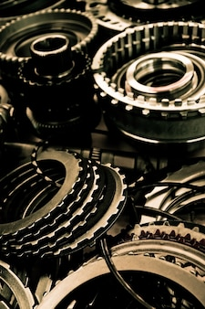 Fundo de montagem de engrenagem de automóvel