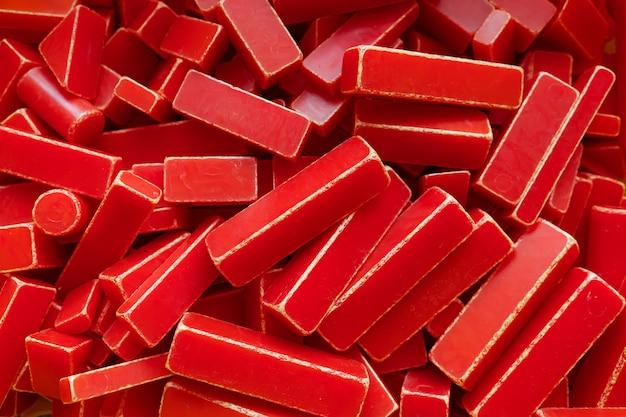 Fundo de muitos retângulos vermelhos diferentes